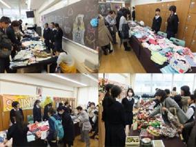手作り作品やお菓子は盛況で午前中に売り切れたところも